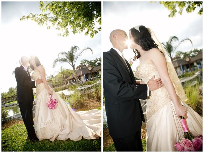 Disney wedding/Shades of Green/Florida wedding/champagne wedding dress/vow renewal