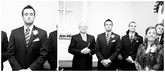 groom crying/winter wedding