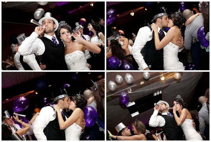 New Year's Eve Wedding/winter wedding/purple wedding