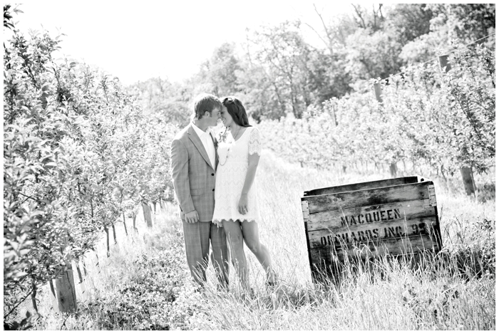 apple orchard engagement session/MacQueen Orchard