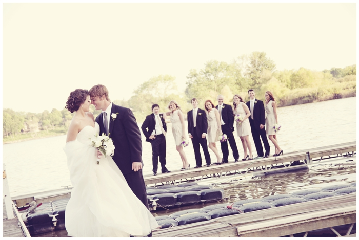 beautiful wedding, purple flowers, hafner florist, wedding by the river
