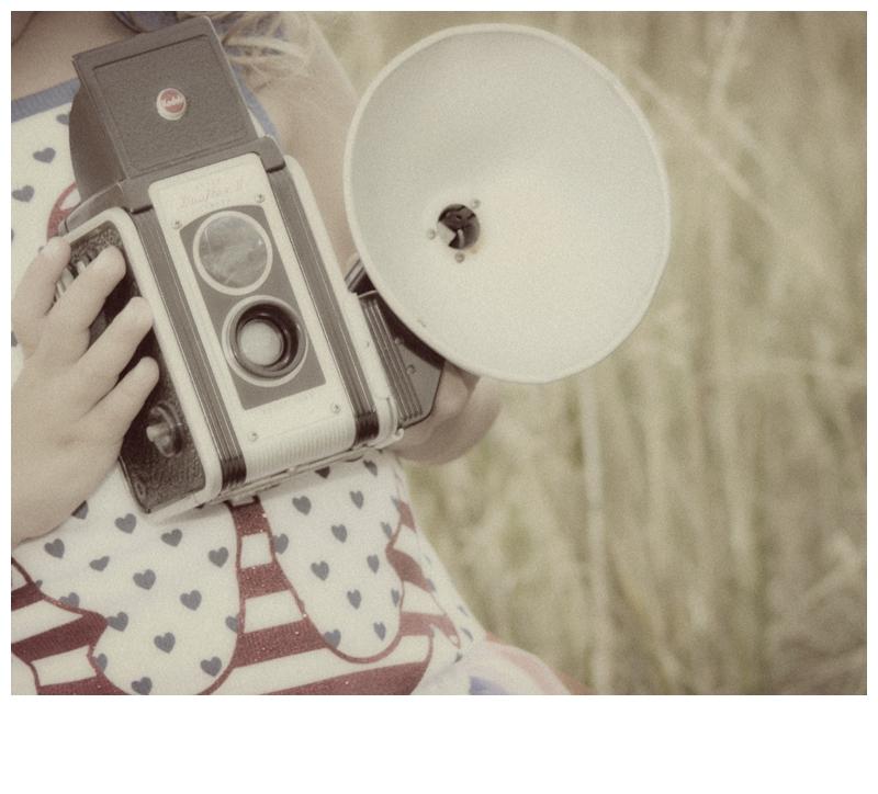 vintage camera, patriotic mini session, red white & blue