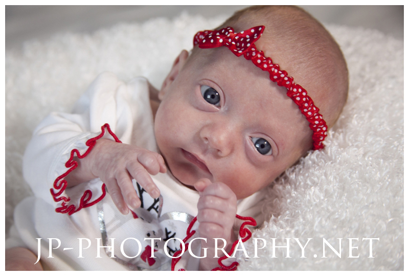 red head band, christmas newborn