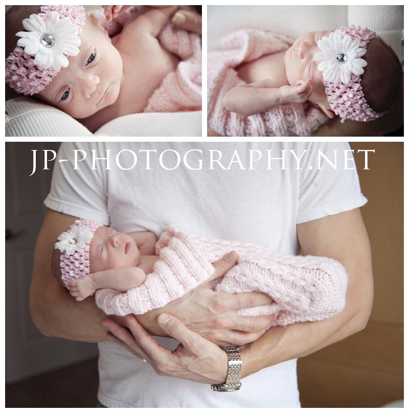 preemie, newborn, pink headband