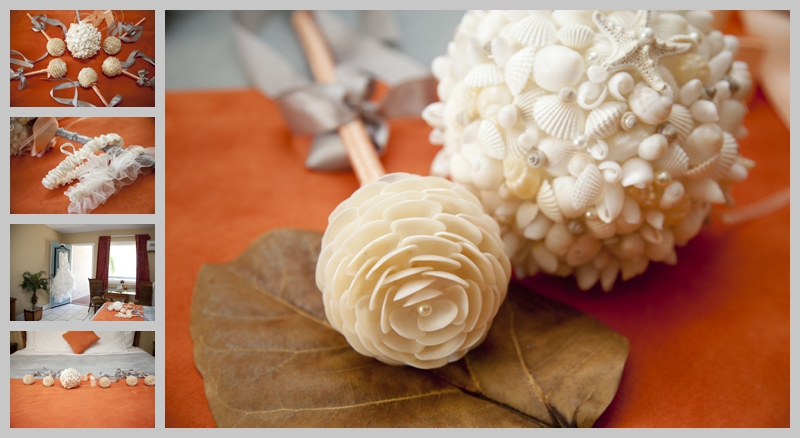seas shell bouquets, St Thomas wedding, Caribbean, destination wedding