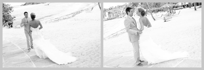 first look, beach wedding, destination wedding, USVI